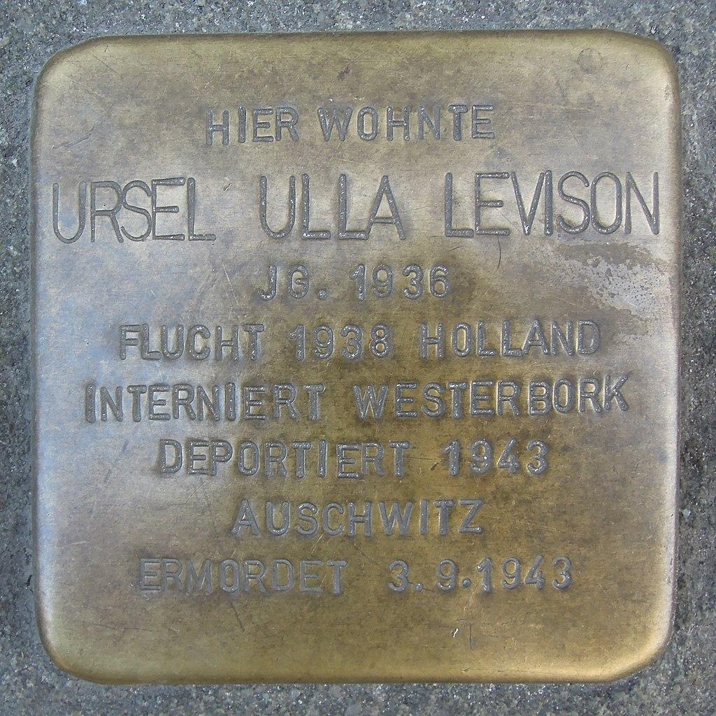 Stolperstein Ratingen Bechemer Straße 2 Ursel Levison
