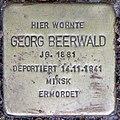 Stolperstein Stierstr 18 (Fried) Georg Beerwald.jpg