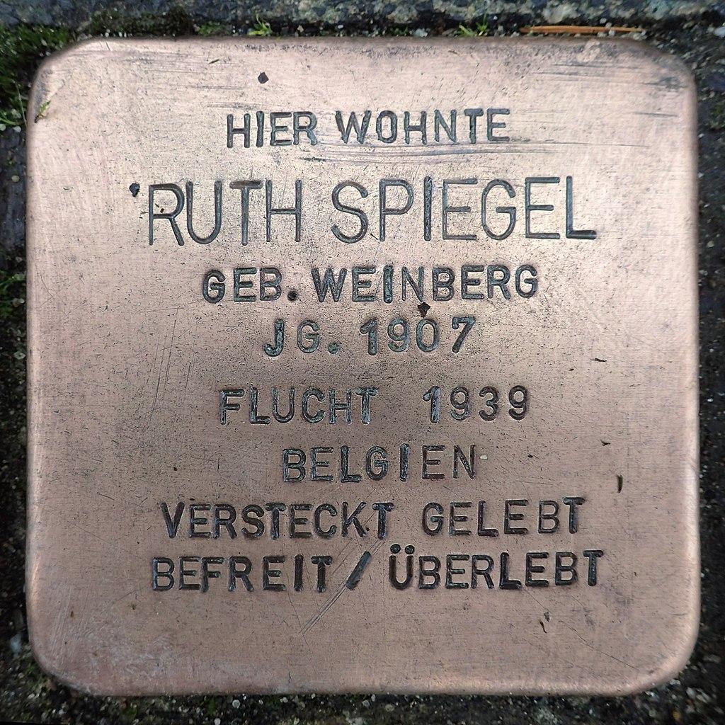 Stolperstein für Ruth Spiegel