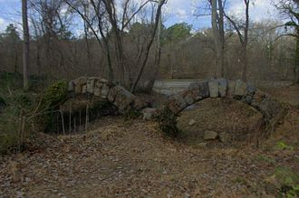 Upper Appomattox Canal Navigation System - The Granite Arches of the Navigable aqueduct over Rohoic Creek still remain.
