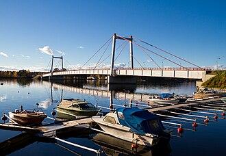Strömsund Bridge - View of Strömsund Bridge from eastern side.
