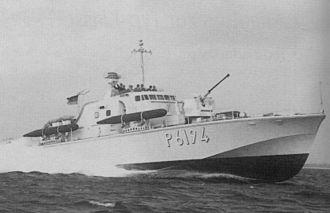 Brave-class patrol boat - German Strahl in 1965