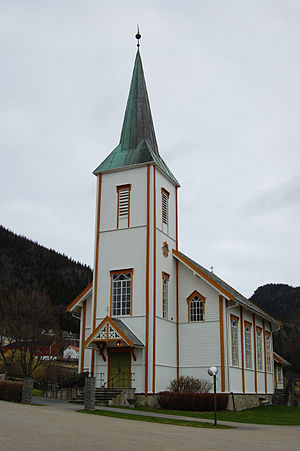 Stranda Church (Leksvik) - Image: Stranda kirke, Leksvik 2009 1