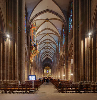 Strasbourg Cathedral - Inside the cathedral, looking east