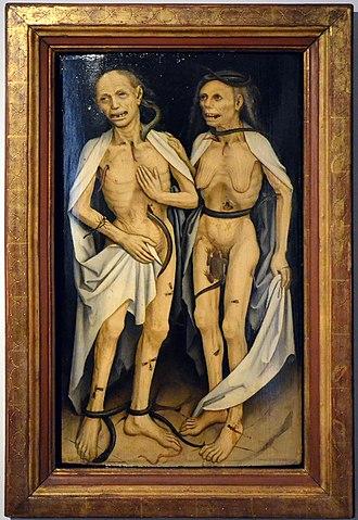 1470s in art - Image: Strassburg Frauenhaus Museum verstorbenes Liebespaar um 1470 Brunswyk (2014)