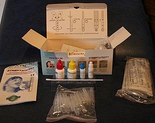 Rapid strep test test for strep throat