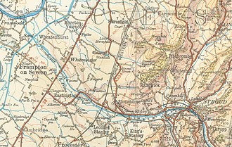 Stroudwater Navigation - A map of the Stroudwater Navigation from 1933