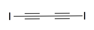Diiodobutadiyne - Image: Structure of diiodobutadiyne