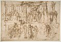 Studies for an Altarpiece with the Virgin Enthroned, Attended by Four Saints (recto); Various Figure Studies, Some Possibly for a Deposition of Christ (verso) MET DP811256.jpg