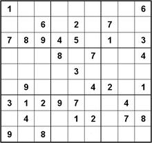 Sudoku wikipedia - Grille sudoku a imprimer gratuitement ...