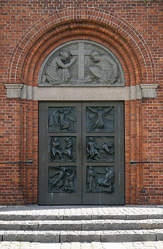 Sundby Church - The door of the porch