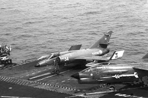 French aircraft carrier Clemenceau (R98) - Image: Super Etendard F 8 Clemenceau