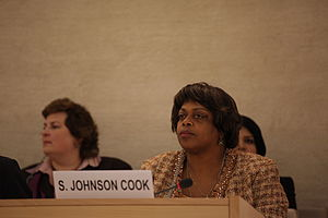 Suzan Johnson Cook at the Human Rights Council...