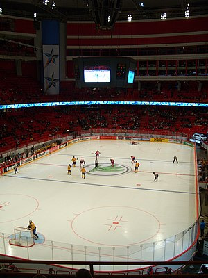 2012 IIHF World Championship - Game between Sweden and Norway at Ericsson Globe.