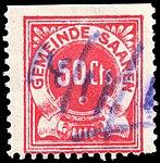Switzerland Saanen revenue stamp 50c - 2.jpg