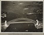 Sydney Harbour Bridge crowded with onlookers during the water and aerial display, 19 March 1932 (6173531979).jpg