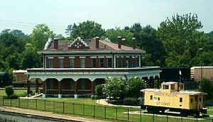 Texas and Pacific Railroad Depot (Marshall, Texas) - Image: T&P Depot
