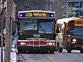 TTC bus 7695 proceeding east on The Esplanade, 2015 01 13 (1) (16254808576).jpg