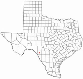 Brackettville, Texas - Image: TX Map doton Brackettville