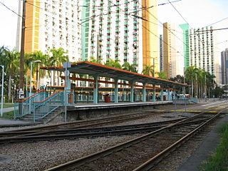Tai Hing (North) stop MTR Light Rail stop