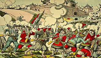 Bắc Ninh Campaign - Turcos and fusiliers-marins at Bắc Ninh, 12 March 1884