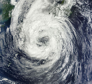 Tropical Storm Talas (2011) - Severe Tropical Storm Talas approaching Japan on September 2