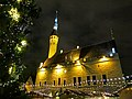 Tallinn Town Hall on Christmas Eve.jpg