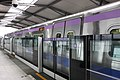 Taoyuan Metro Commuter Train at Platform 1, Xinzhuang Fuduxin Station 20170318.jpg