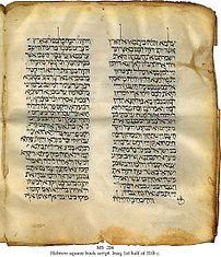11th century Hebrew Bible with Targum.