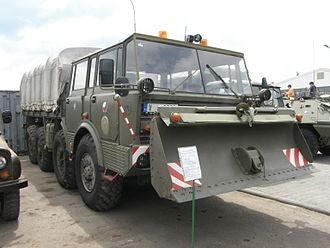 Tatra 813 - T813 KOLOS military specs with dozer blade