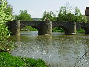 Steinbrücke von Balthasar Neumann über die Tauber bei Tauberrettersheim