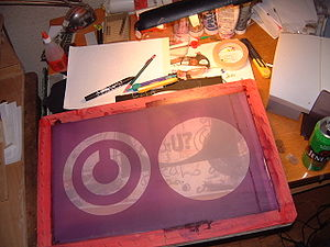 Screen printing - A silk screen design