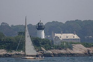 Ten Pound Island Light - Image: Ten Pound Island Lighthouse, Gloucester, MA