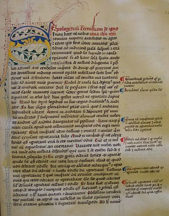 Apologeticus - A manuscript of Tertullian's Apologeticus from the 1440s.