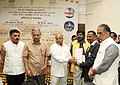 """Thaawar Chand Gehlot felicitated the """"Rio Paralympic medalists, members of T-20 Asia Cup Indian Blind Cricket Team and Indian Blind Para & Para Judo"""", at a function, in New Delhi (1).jpg"""