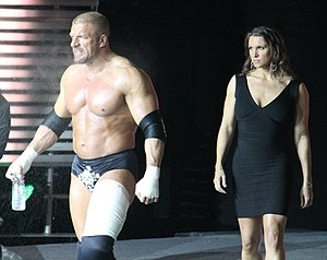 Stephanie McMahon - Triple H, left, and Stephanie McMahon at the post-WrestleMania Raw in New Orleans, Louisiana.