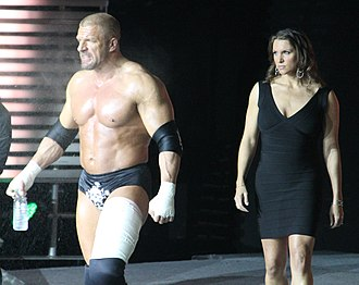 Stephanie McMahon - Triple H, left, and Stephanie McMahon at the post-WrestleMania Raw in New Orleans, Louisiana