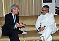 The British High Commissioner, Sir Richard Stagg meeting the Union Minister for Road Transport and Highways, Dr. C.P. Joshi, in New Delhi on April 08, 2011.jpg