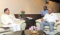 The Chief Minister of Arunachal Pradesh, Shri Nabam Tuki meeting the Union Minister for Civil Aviation, Shri Ashok Gajapathi Raju Pusapati, in New Delhi on September 22, 2015 (1).jpg