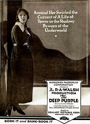 The Deep Purple (1920 film) - Ad for film