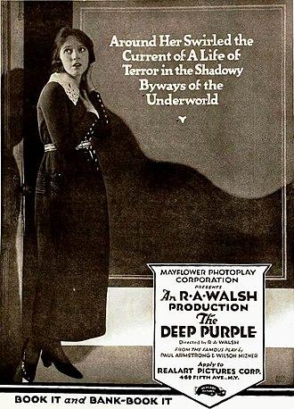 The Deep Purple (1920 film) - Ad for film