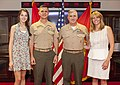 The Deputy Commandant for Programs and Resources, U.S. Marine Lt. Gen. Glenn M. Walters, second from right, poses for a photo with Brig. Gen. John M. Jansen, second from left, and his family members after 130719-M-KS211-020.jpg