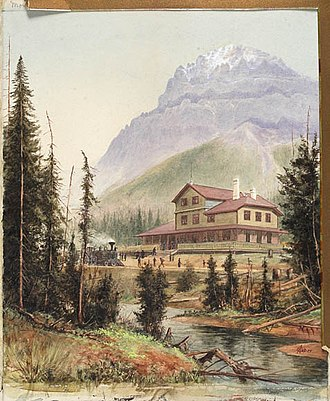 Fairmont Hotels and Resorts - Mount Stephen House in 1887. Opened a year earlier, it was one of the first hotels operated by Canadian Pacific Hotels.