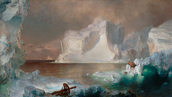 Frederic Edwin Church, The Icebergs, 1861 The Icebergs (Frederic Edwin Church), 1861 (color).jpg
