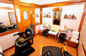 The beauty salon on The Indian Maharaja charte...