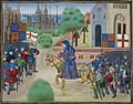 The Peasants' Revolt - Froissart, Chroniques de France et d'Angleterre, Book II (c.1460-1480), f.165v - BL Royal MS 18 E I.jpg