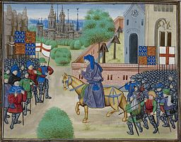 The Peasants' Revolt - Froissart, Chroniques de France et d'Angleterre, Book II (c.1460-1480), f.165v - BL Royal MS 18 E I