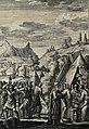 The Phillip Medhurst Picture Torah 460. Moses destroys the golden calf. Exodus cap 32 v 20. Heuman.jpg
