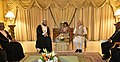 The Prime Minister, Shri Narendra Modi meeting the Deputy Prime Minister for International Relations and Cooperation Affairs of Oman, Sayyid Asa'ad bin Tariq Al Said, in Muscat, Oman on February 12, 2018.jpg