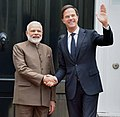The Prime Minister, Shri Narendra Modi meeting the Prime Minister of Netherlands, Mr. Mark Rutte, at Amsterdam, Netherlands on June 27, 2017.jpg